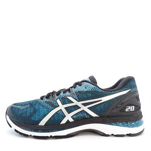 Asics Gel Nimbus 20 Island Blue White Black Men Running Shoes Trainer T800N 4101