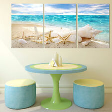 3PCS Modern Art Oil Painting Wall Pictures Unframed Starfish Prints Home Decor