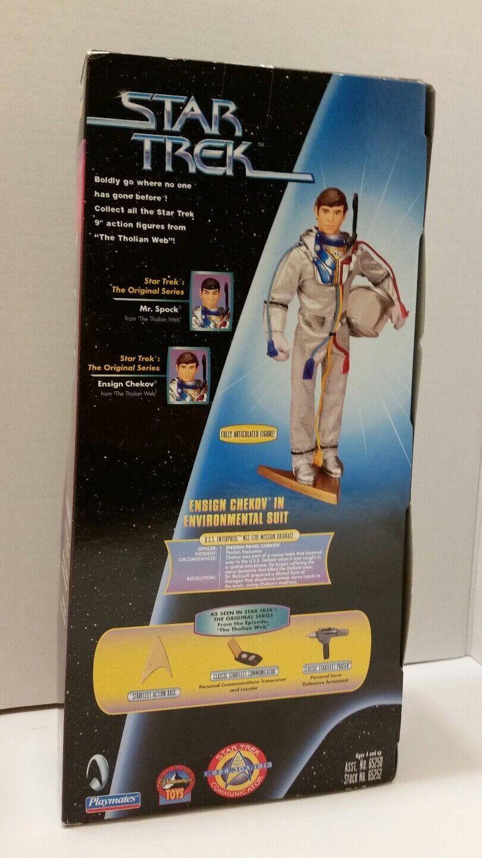 Playmates Star Trek 9 9 9  Ensign Chekov Environmental Suit Signed Walter Koenig ae5ead