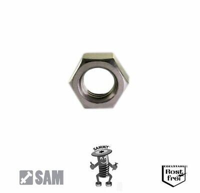 """5 Sicherungsmuttern DIN 985 V2A 1//2/""""-20 UNF hex nuts"""