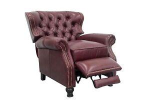 New Barcalounger Presidential Ii Genuine Leather Recliner Chair Shoreham Wine Ebay