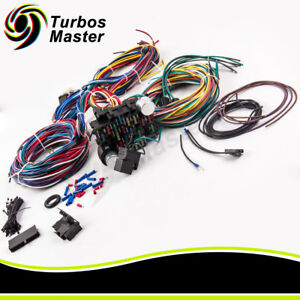 image is loading 21-circuit-wiring-harness-17-fuses-for-chevy-