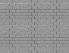 5 LG Light Gray Stone Block Seamless Paper Scenery Sheets O Scale Model Layout