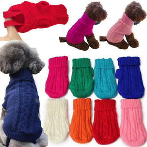 Petit-Chien-Chat-Chiot-Animal-de-Compagnie-Mignon-Pull-Tricot-Pull-Hiver-Chaud