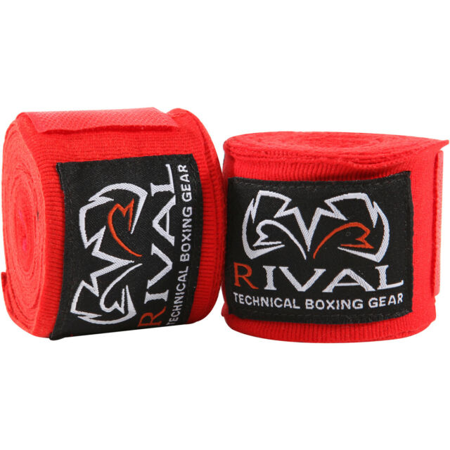 """Rival Boxing 180/"""" Traditional Cotton Handwraps"""