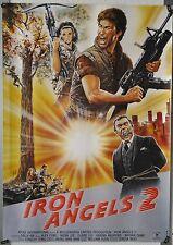(A33) Gerollt/Filmpl. IRON ANGELS 2 - 1988 Alex Fong, Moon Lee, Elaine Lui