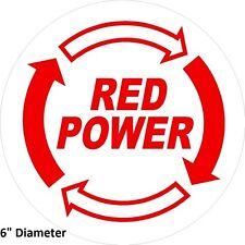 """IH Red Power sticker decal sticker 6"""" round Case IH Ag International Harvester"""