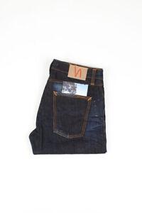 30779 Nudie Jeans Big Bengt Dark Crinkle Dunkelblau Herren Jeans IN Größe 33/32