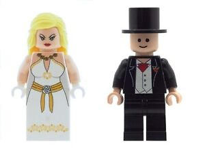 Custom Figurine Mariée Et Marié B Cadeau Mariage Gâteau Imprimé sur LEGO Pièces  </span>