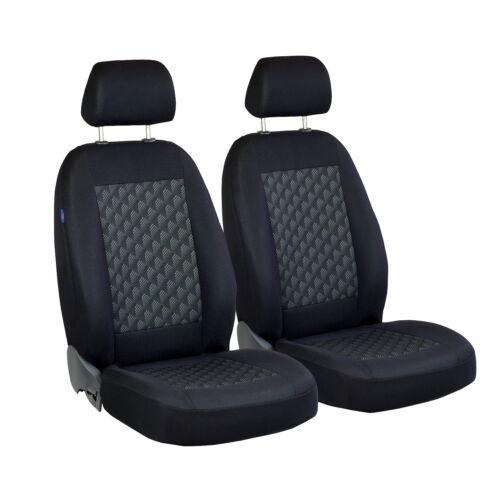 Schwarz Effekt 3D Sitzbezüge für TOYOTA STARLET Autositzbezug VORNE