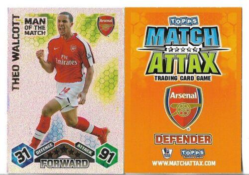 Match Attax hombre del partido 2009//10 tarjetas elegir las tarjetas necesarias