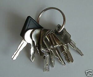 10 Keys Heavy Equipment Aerial Boom Fork Lift Forklift Key Set Keyset New Ebay