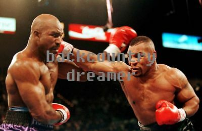 MIKE TYSON EVANDER HOLYFIELD Poster Boxing Heavyweight Boxing Poster 36 x 24 C