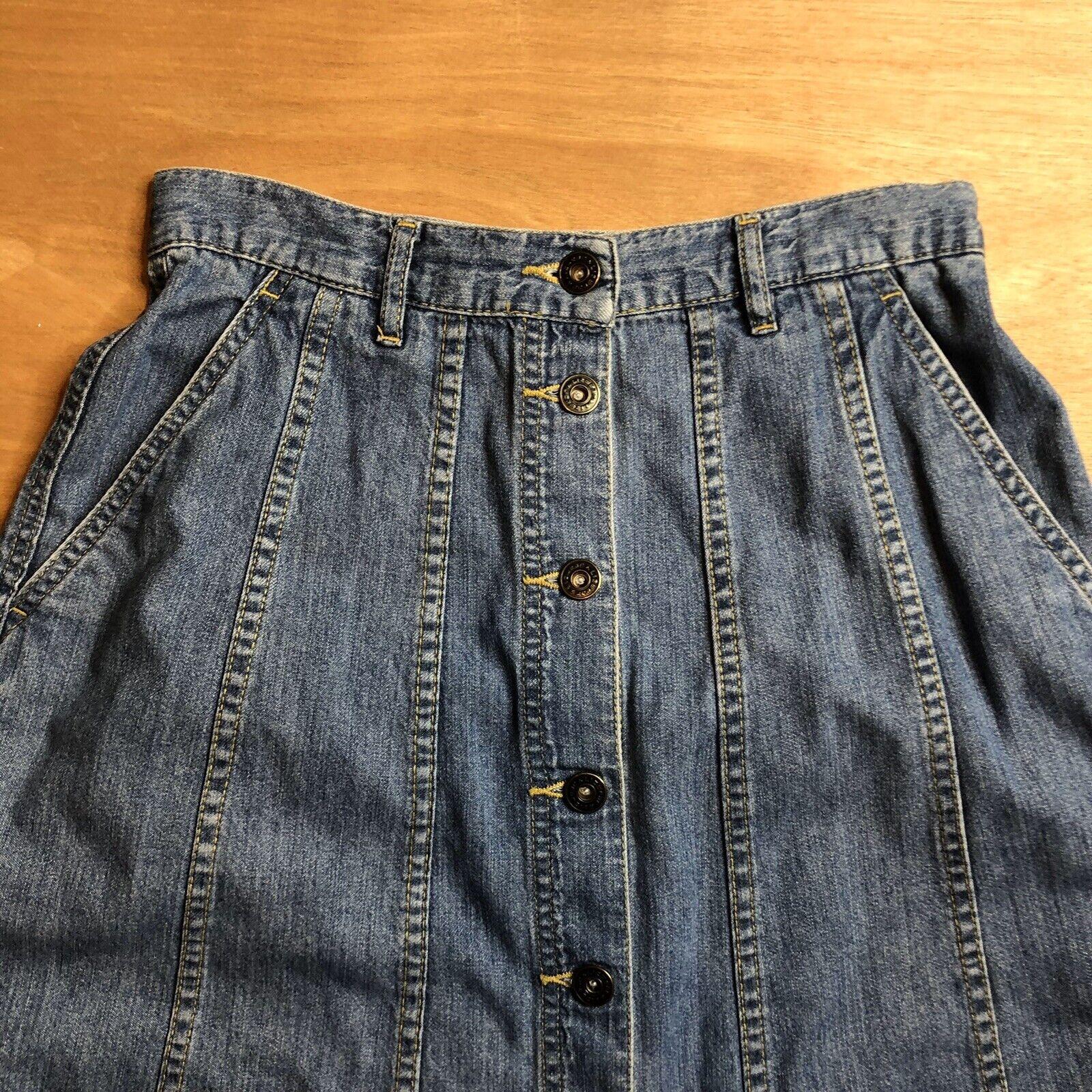 Vintage Lizwear Women's Petite Size 6 Denim Butto… - image 7