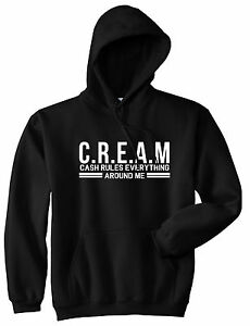 bf23e5a4f82 Kings Of NY Cream Cash Rules Everything Around Me Pullover Hoodie ...