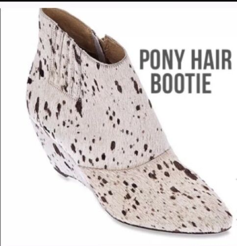 Matisse Pony Hair Booties Cow Print