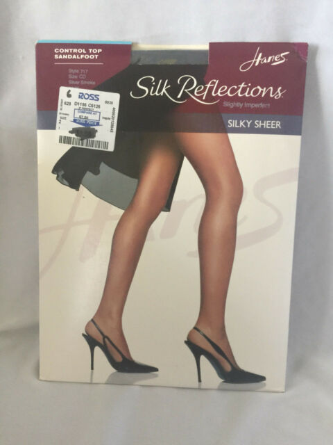 63ad2147b0616 Hanes Silk Reflection Pantyhose Shaper Sandalfoot GentleBrown SZ EF  Imperfect