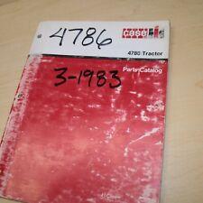 Case 4786 Tractor Spare Parts Manual Book Catalog List Farm Wheel Factory 1983