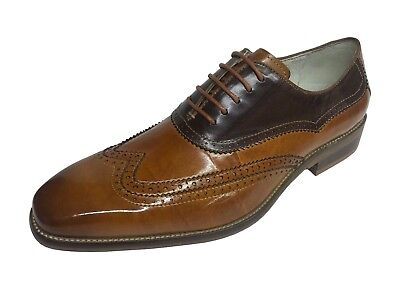 Giovanni Men/'s Oxford Tan//Brown Leather Wing Tip Dress Shoes Cyprus