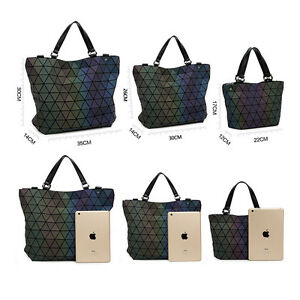 a719efd5baa9 Image is loading Fashion-Style-Laser-bag-Geometric-Diamond-Luminous-Women-