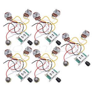 guitar prewired wiring harness for fender tele parts 3 way 250k pots jack 5 pcs 634458688475 ebay. Black Bedroom Furniture Sets. Home Design Ideas