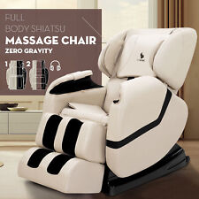 Deluxe Full Body Shiatsu Massage Chair ZERO GRAVITY Recliner with Heat Foot Rest