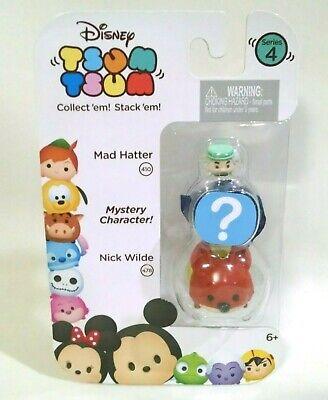 Disney Tsum Tsum Series 4 Mad Hatter /& Nick Wilde 1 Minifigure 3-Pack Jakks