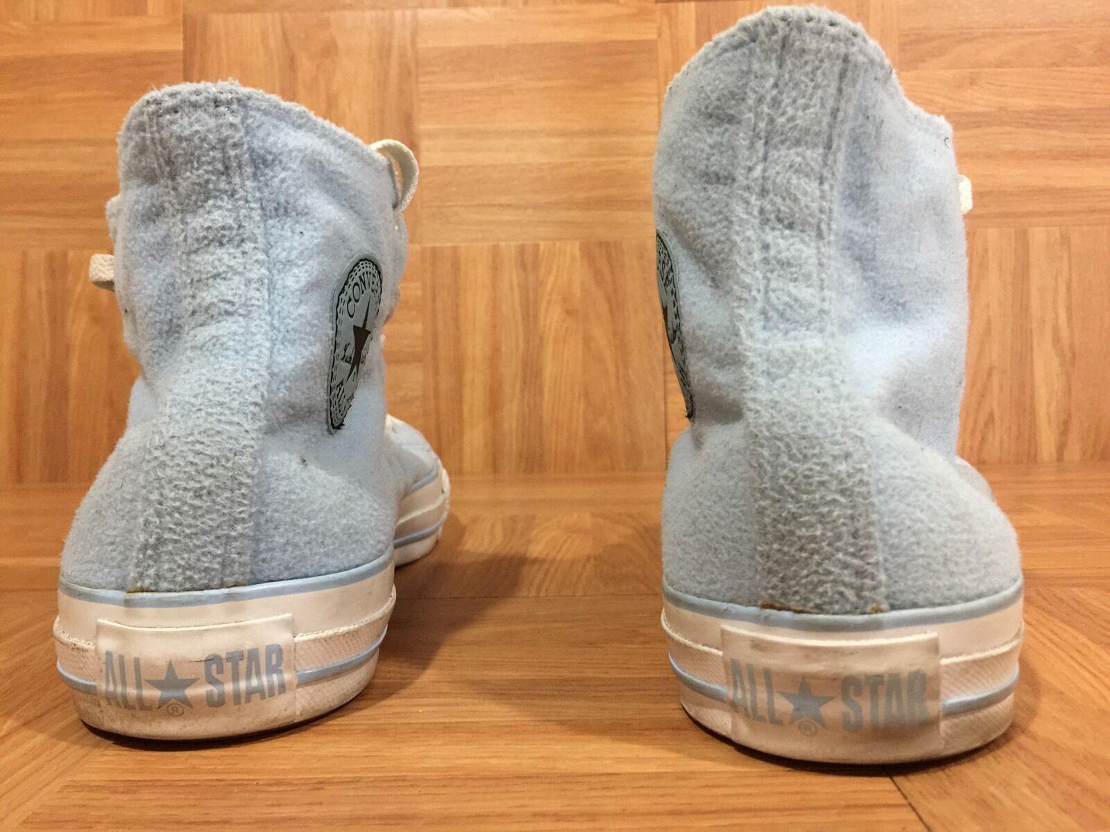 RARE� Fleece Converse Chuck Taylor Hi Fleece RARE� Baby Blau Plush Textile 8 Men - 10 Damens f914bb