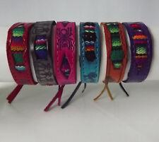 Lot of 4 Peruvian Leather Bracelet with Manta. Handmade