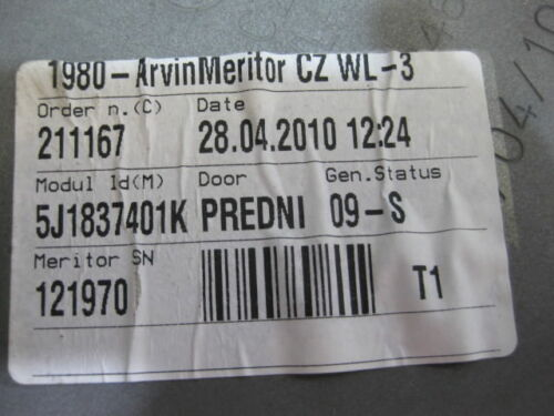 Skoda Fabia 5J CBZA Elektrischer Fensterheber vorne links 5J1837401K 4 Türer TSI