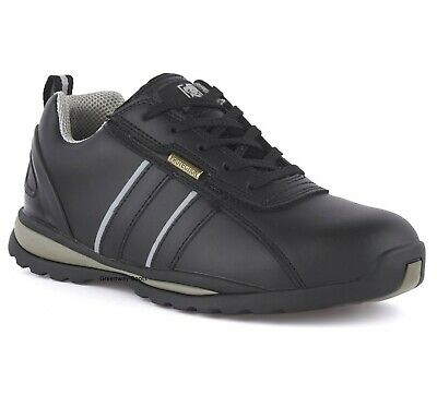 Besorgt Mens Lightweight Black Leather Safety Steel Toe Cap Work Shoes Trainers Boots Sz