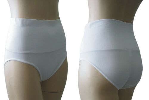 Seamless Tummy Bum Control Brief Knickers Shapewear Nude White Size 10 12 18 20