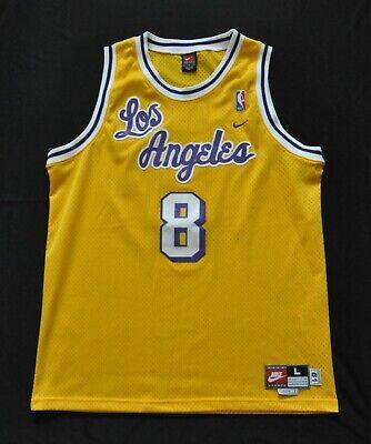KOBE BRYANT #8 Los Angeles Lakers Rewind 1961 Nike Swingman Jersey Cursive Men L | eBay