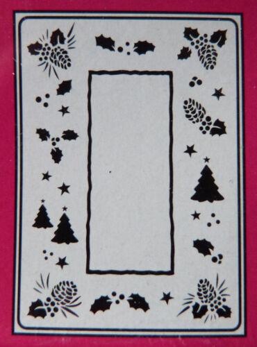 Crafts-TOO//CTFD 3035//C6//carpeta de grabación en relieve//// árbol De Navidad//bellota//Marco de Acebo