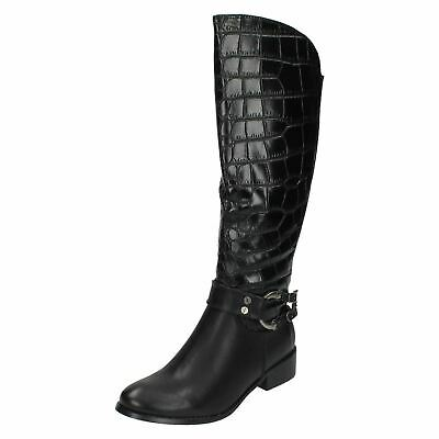 Coco L9R336 Ladies Black  Zip-Up Calf Boots R28A