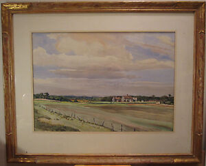 ANTIQUE-AMERICAN-IMPRESSIONIST-NEW-ENGLAND-COUNTRY-LANDSCAPE-PAINTING-LISTED-ART