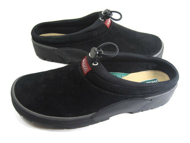 SEBAGO WOMEN'S TAHOE SLIP-ON SLIPPER/SHOE BLACK SUEDED LEATHER RUBBER SOLE SZ 8