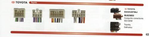 Parrot conectores manos libres iso oem para Totota Subaru Lexus Daihatsu