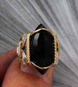 Large-Black-Onyx-Gemstone-Ring-in-Sterling-Silver-14kt-Rolled-Gold-Size-5-to-15