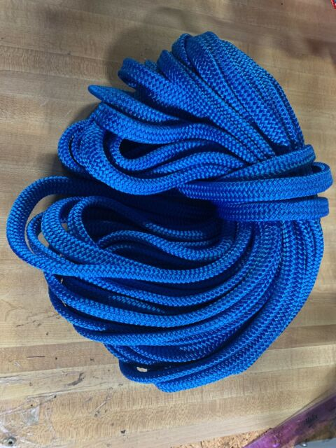 """7//16/""""x 130 ft Made in USA Hollow //Flat Braid Nylon Rope Hank.Discounted"""