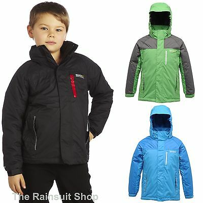 REGATTA LIGHTHOUSE BOYS WARM PADDED INSULATED WATERPROOF RAIN COAT JACKET 11-12Y