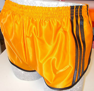 Yellow Retro Nylon Satin Sprinter Shorts S to 4XL Royal