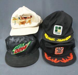 Lot-of-4-Vintage-Baseball-Farmer-Trucker-Snapback-Hat-Cap