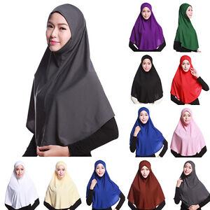 Dame-de-Femmes-Echarpe-Casquette-Capot-Couverture-Complete-Tete-Cou-Long-Hijab