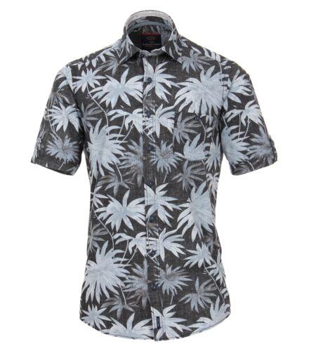 Casa Moda-Comfort fit-Uomo Camicia Manica Corta In Antracite 982975300