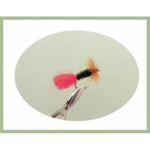 Dry-Truite-Mouches-12-Pack-Red-Tag-MIXTE-TAILLE-12-14-16-Fishing-Flies