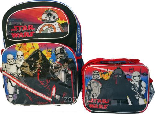 "Star Wars Boys 16/"" Large Backpack /& Lunch Bag 2 pc set NEW!!"