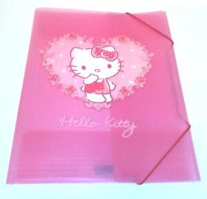vendita calda online 0a11a 6b9a8 Dettagli su Hello Kitty Portafoglio in plastica A4+ documento Elastica Rosa  Puntini Bianchi Rosa Cuore file- mostra il titolo originale