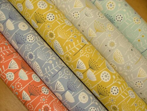 "/""Bergen/"" Fryetts Designer 100/% Coton Tissu Rideau Ameublement Coussin CRAFT"