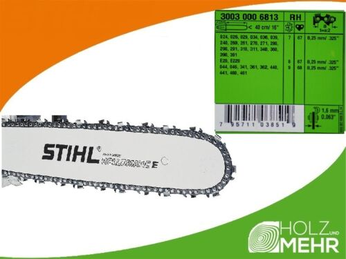 "Stihl Rail De Guidage Rollomatic E 40 cm 0,325/"" 1,6 mm 30030006813 Original Neuf!"